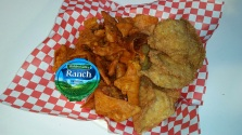 Fried Chicken Skins and Fried Doritos