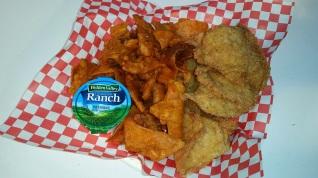 Fried Chicken Skins and Fried Doritos
