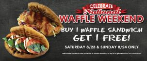 Wafflette Cafe, giveaway, national waffle day, freebies
