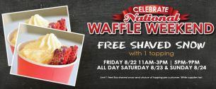 Wafflette Cafe, giveaway, national waffle day, freebies
