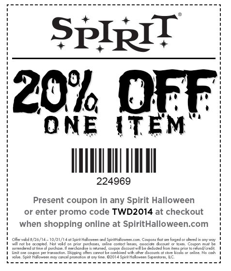 halloween coupons halloween freebies halloween 2014 spirit