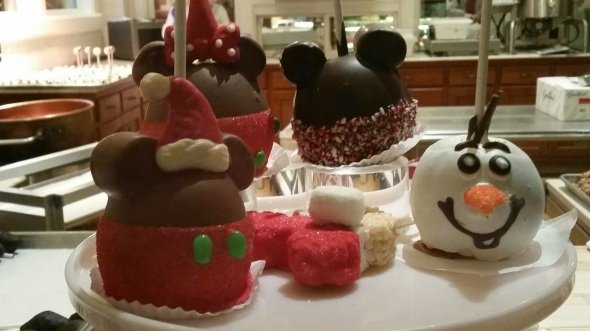 Candy Apples on Main Street - Disneyland Holiday Magic
