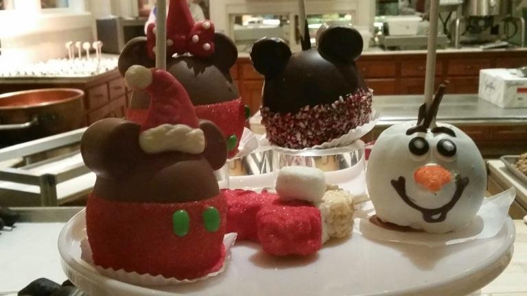 Candy Apples on Main Street - Disneyland Holiday Magic