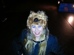 Hubby bought this Chewbacca hat to keep warm - Disneyland Holiday Magic