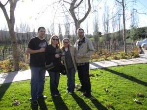 Making friends in Wine Country while wine tasting