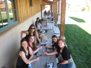 Wine tasting on a girls getaway with friends in Santa Barbara