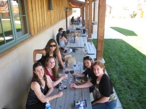 Wine tasting on a girls getaway with friends in Santa Barbara