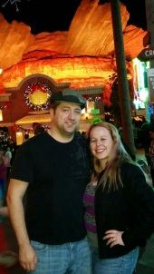 My love and I in Cars Land - Disneyland Holiday Magic