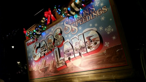 Seasons Speedings from Cars Land - Disneyland Holiday Magic
