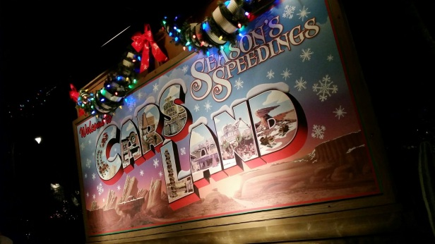 Seasons Speedings from Cars Land - Disneyland Holiday Magic