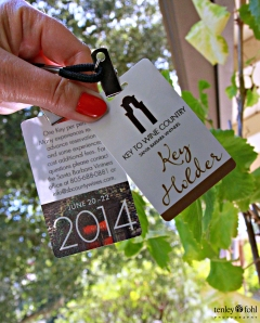 Key to Wine COuntry - Photo Credit Goes to Tenley Fohl Photography