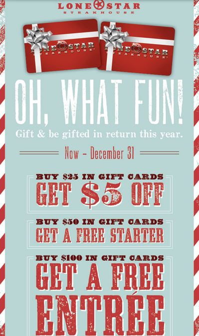 Holiday Gift Card Freebies and Deals for the Holidays | Dani's ...