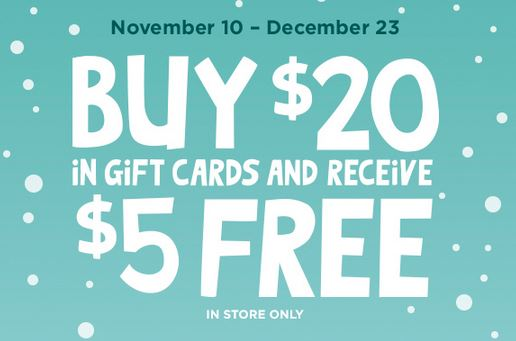 Holiday Gift Card Freebies And Deals For The Holidays
