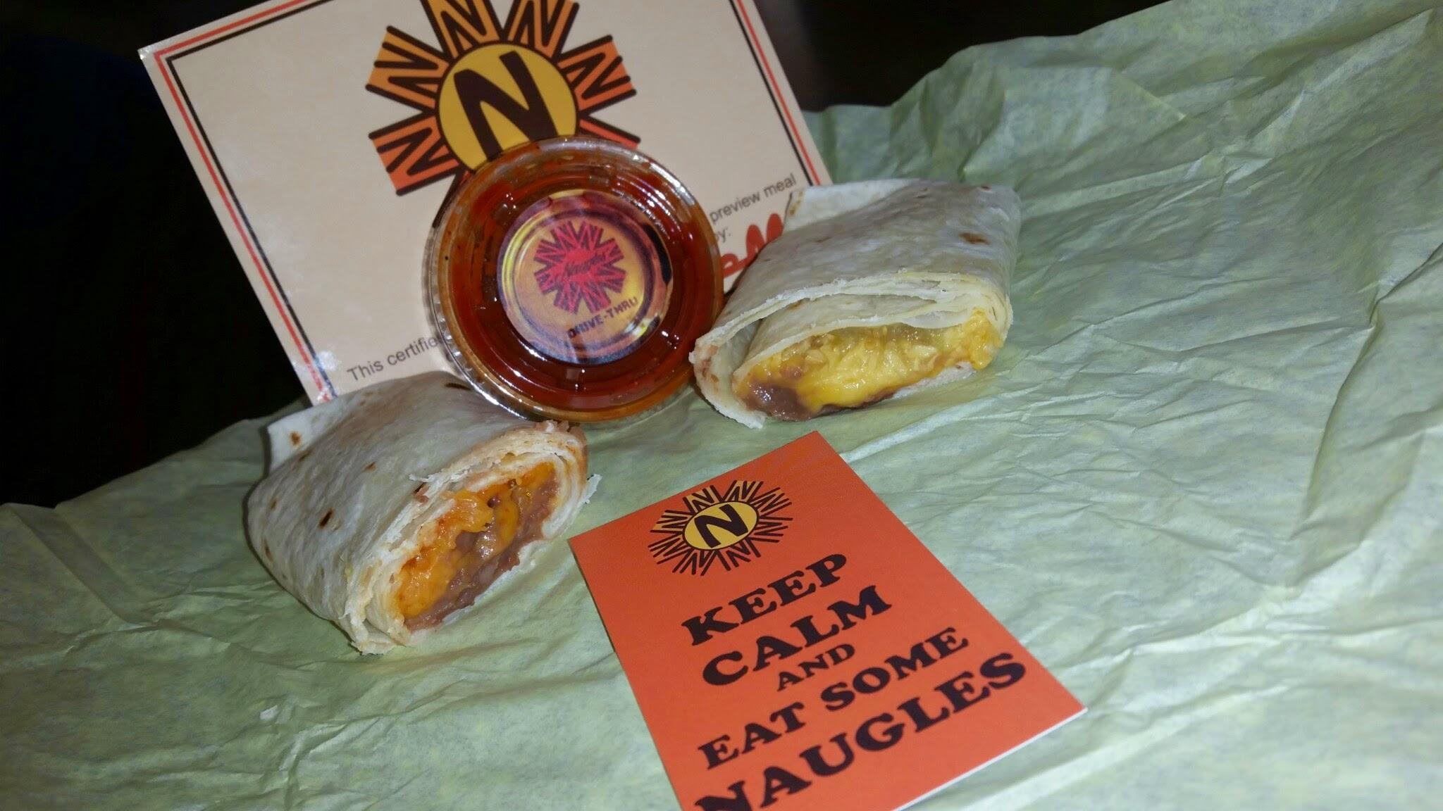 Bean And Cheese Burrito Del Taco Naugles, A Popular 198...