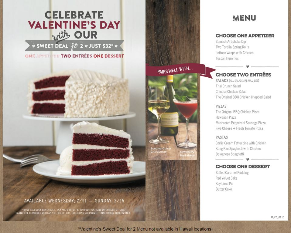 Valentine's Day Prix Fixe Menus, Gift Ideas and Other ...