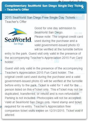 Free Sea World Annual Pass for Teachers, teacher deals