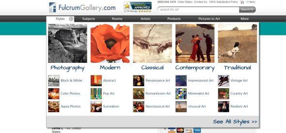 fulcrum gallery, www.fulcrumgallery.com, discount art
