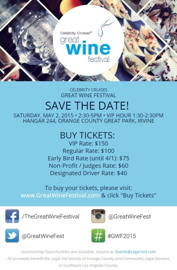 Great wine festival 2015, celebrity cruises, discount tickets great wine festival, irvine wine