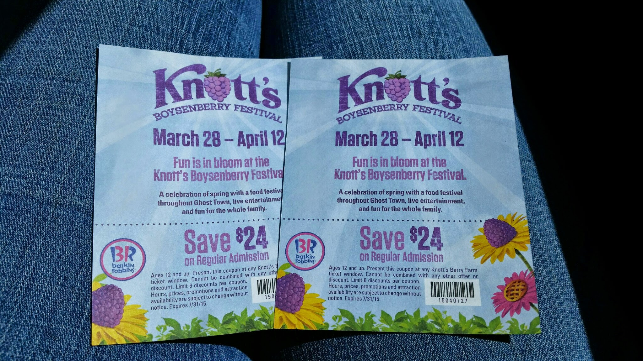 photo regarding Knotts Berry Farm Printable Coupons referred to as Knotts Berry Farm Low cost Tickets versus Baskin Robbins 7