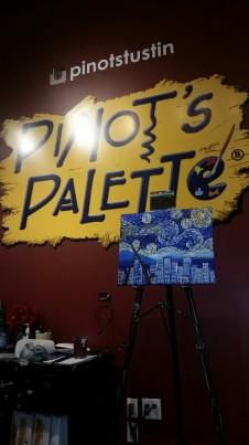 Our teacher, Debra's complete masterpiece - Pinot's Palette Tustin
