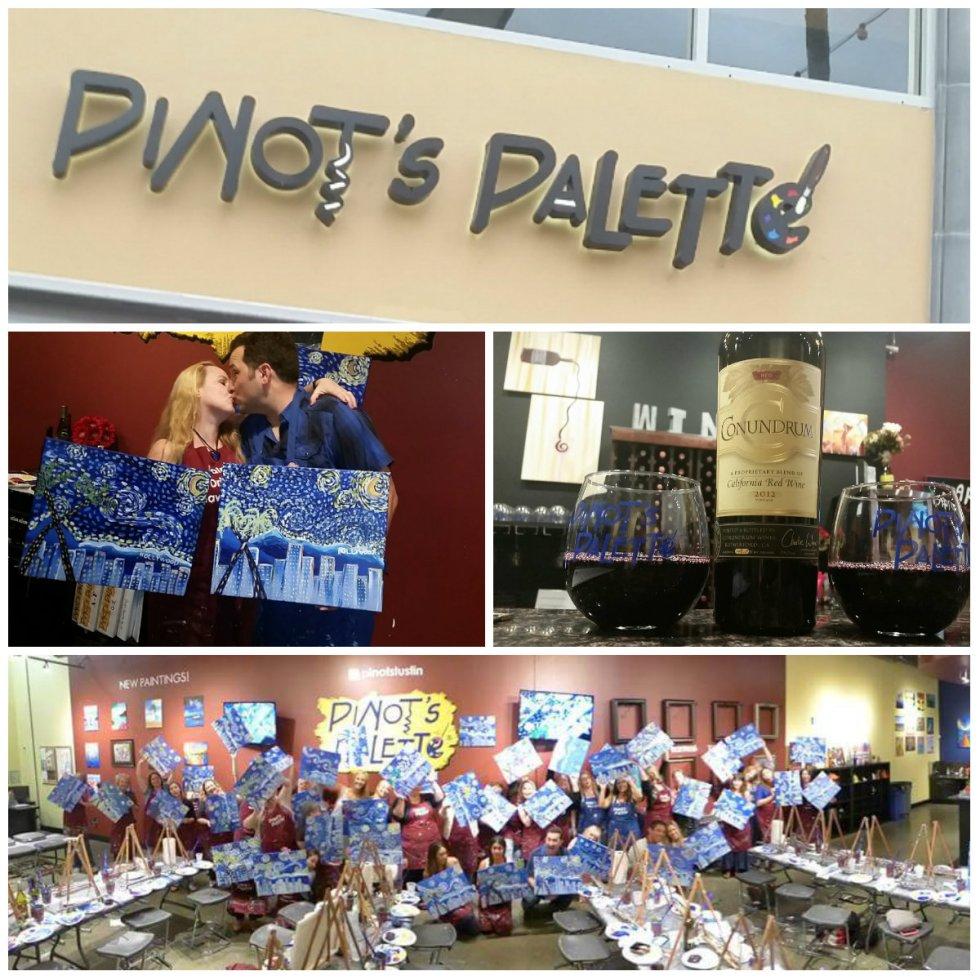 Pinot's Palette Tustin, art and wine, van gogh
