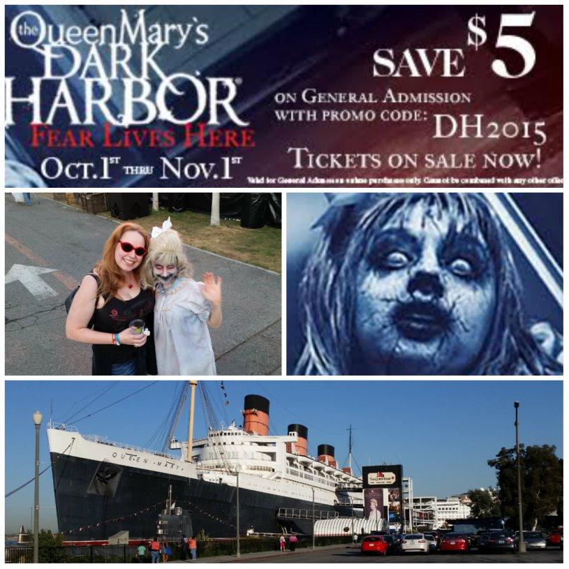 Queen Mary Dark Harbor, promo code, halloween events