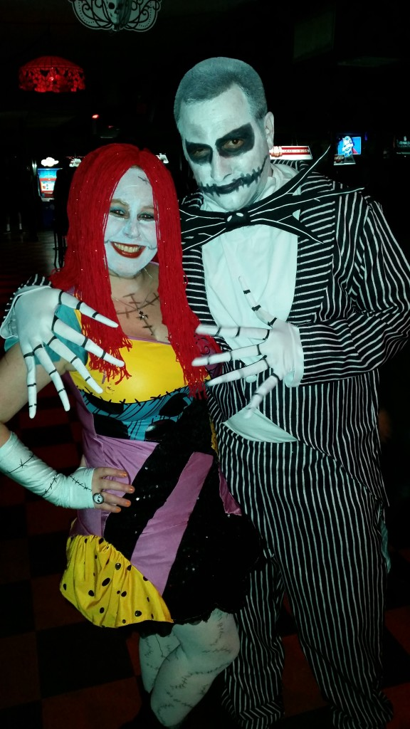 Halloween 2014 Pierce Street Annex with my love - Jack and Sally (1)
