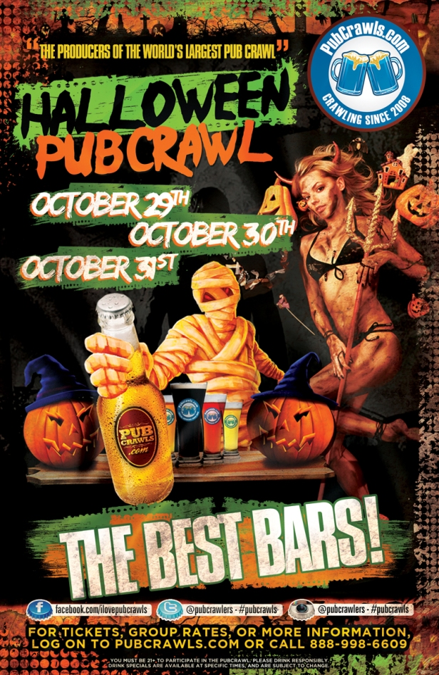Halloween Pub Crawl Anaheim and more locations on website 2015