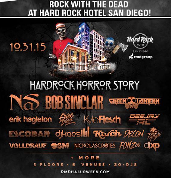 Hard Rock Hotel San Diego, Halloween 2015