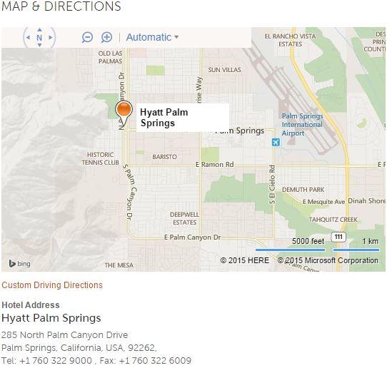 Hyatt Palm Springs, travel, luxury hotel