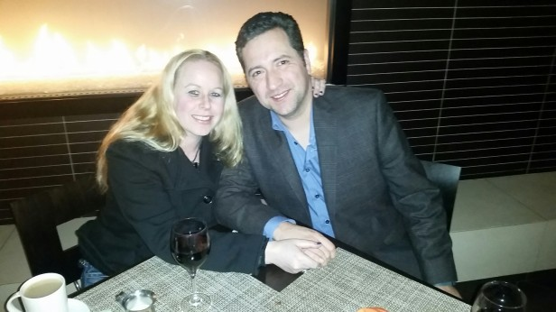 My husband and I at Share restaurant - Hyatt Palm Springs