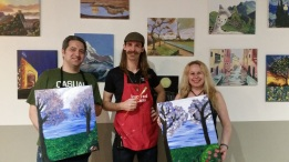 inspired art wine, costa mesa, painting class