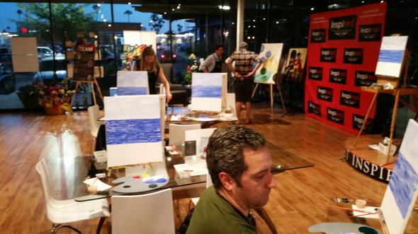 inspired art wine, costa mesa, painting class