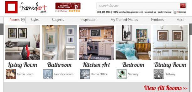 framed art, artwork, home decor, online shopping