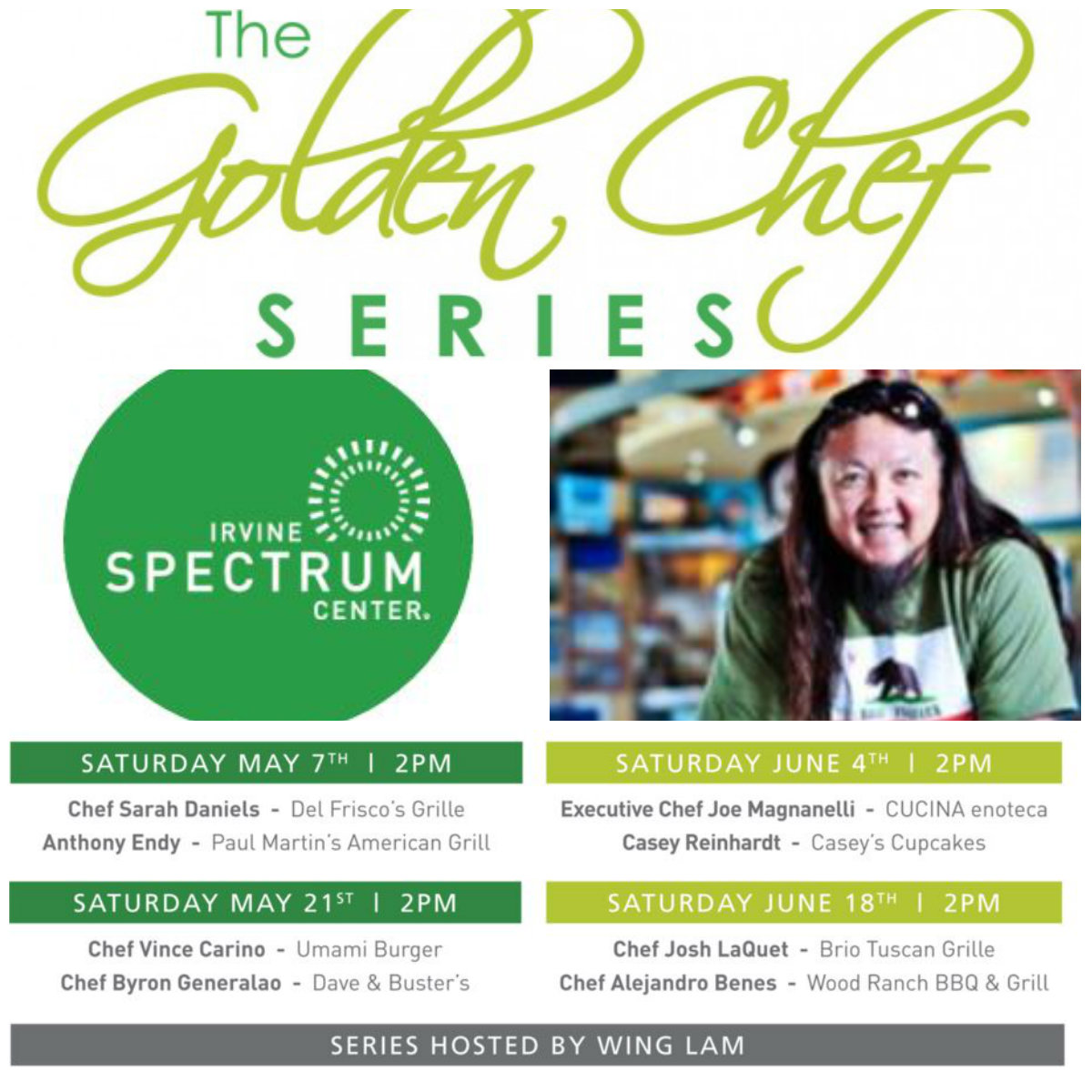 golden chef series, irvine spectrum, foodies