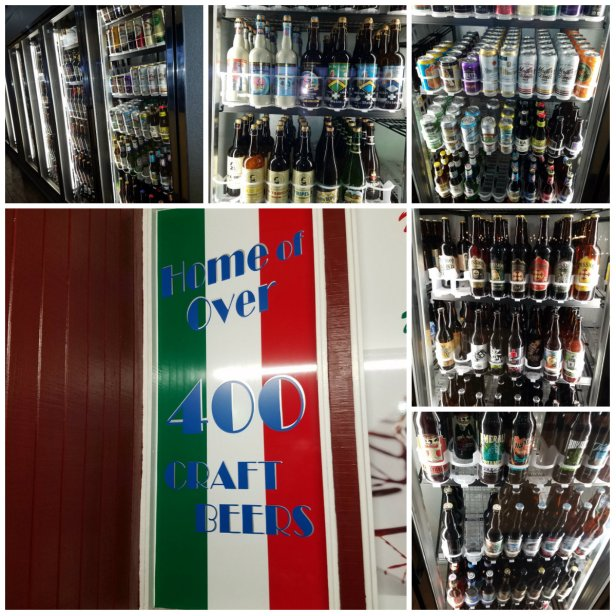 Over 400 craft beers are avaialble for purchase daily - Carolina's Italian Restaurant, Anaheim