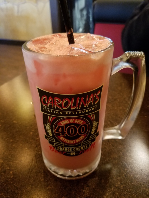 Raspberry Italian cream soda - Carolina's Italian Restaurant, Anaheim
