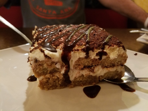 Tiramisu dessert made in-house from scratch - Carolina's Italian Restaurant, Anaheim