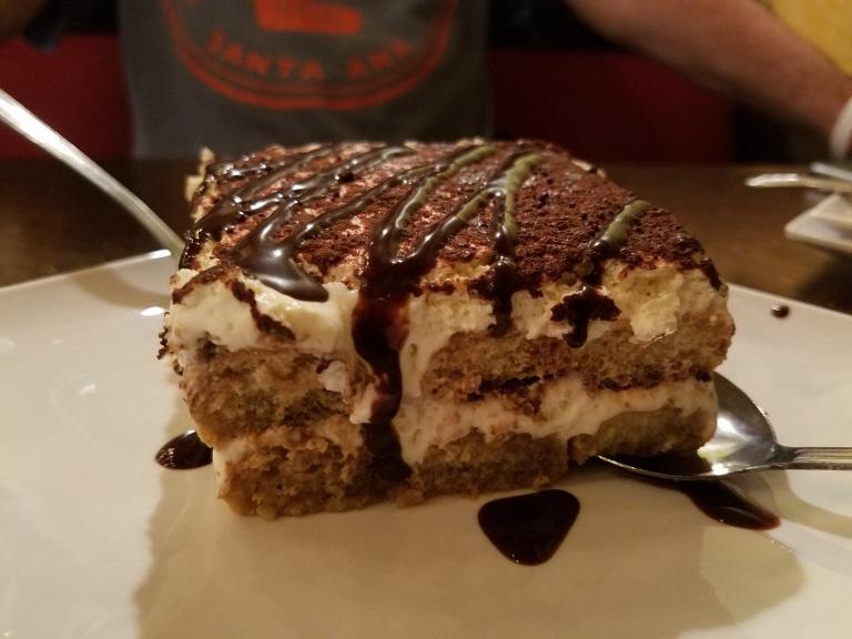 Tiramisu dessert made in-house from scratch - Carolina's Italian Restaurant, Anaheim