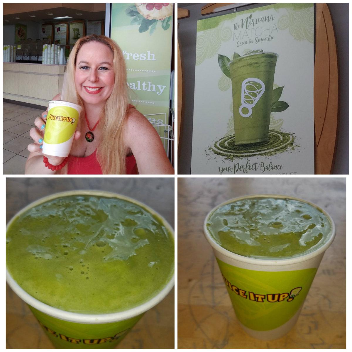juice it up, green tea, smoothie