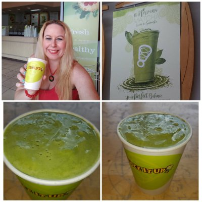 juice it up, green tea, smoothie
