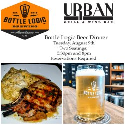 Urban grill and wine bar, bottle logic brewery, beer dinner