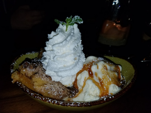Pumpkin and Pecan Streusel cake Dessert - Jimmy's Famous American Tavern