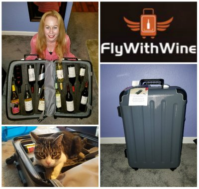 fly with wine, travel, wine