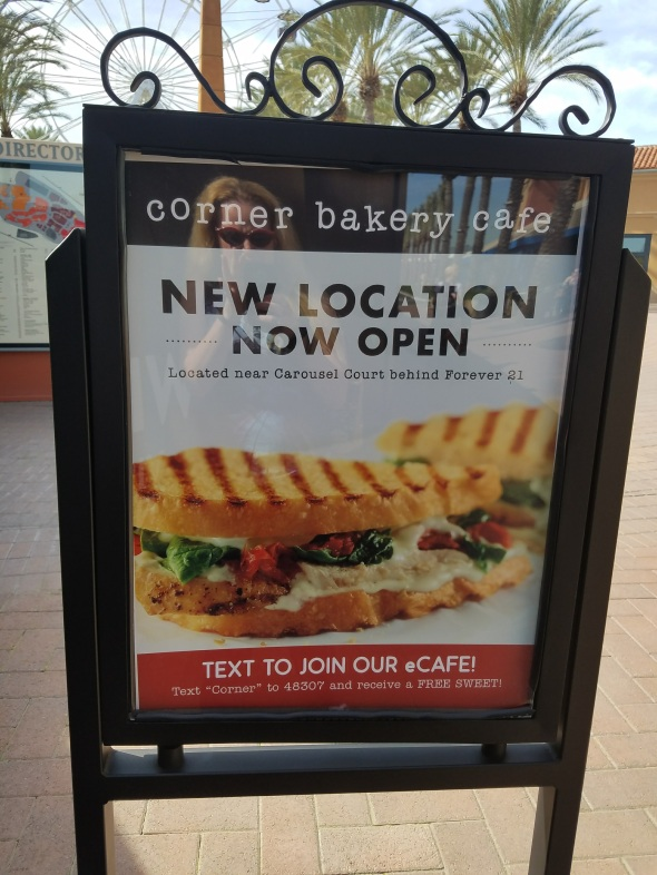 corner bakery, choose any two, meal deal