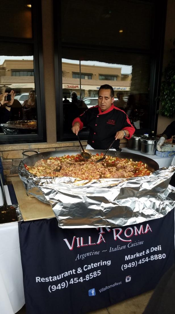 Chef Leo Razo of Villa Roma prepares Paella - Paella Wine and Beer Festival
