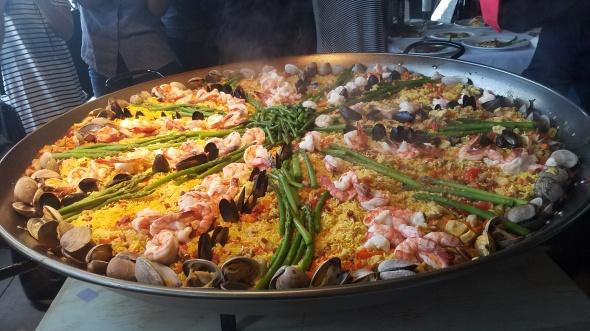 Paella prepared by Chef Leo Razo at Villa Roma - Paella Wine and Beer Festival