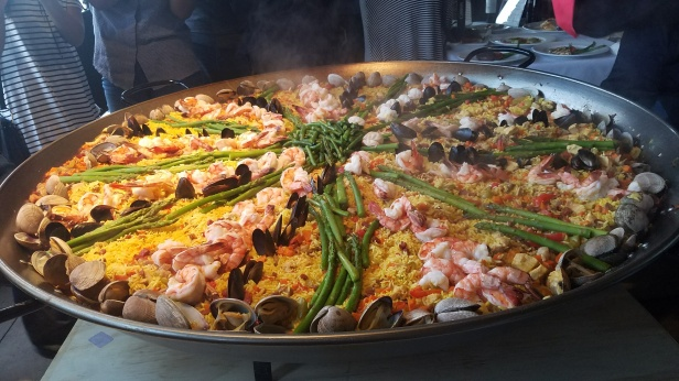 Paella prepared by Chef Leo Razo at Villa Roma - Paella Wine and Beer Festival