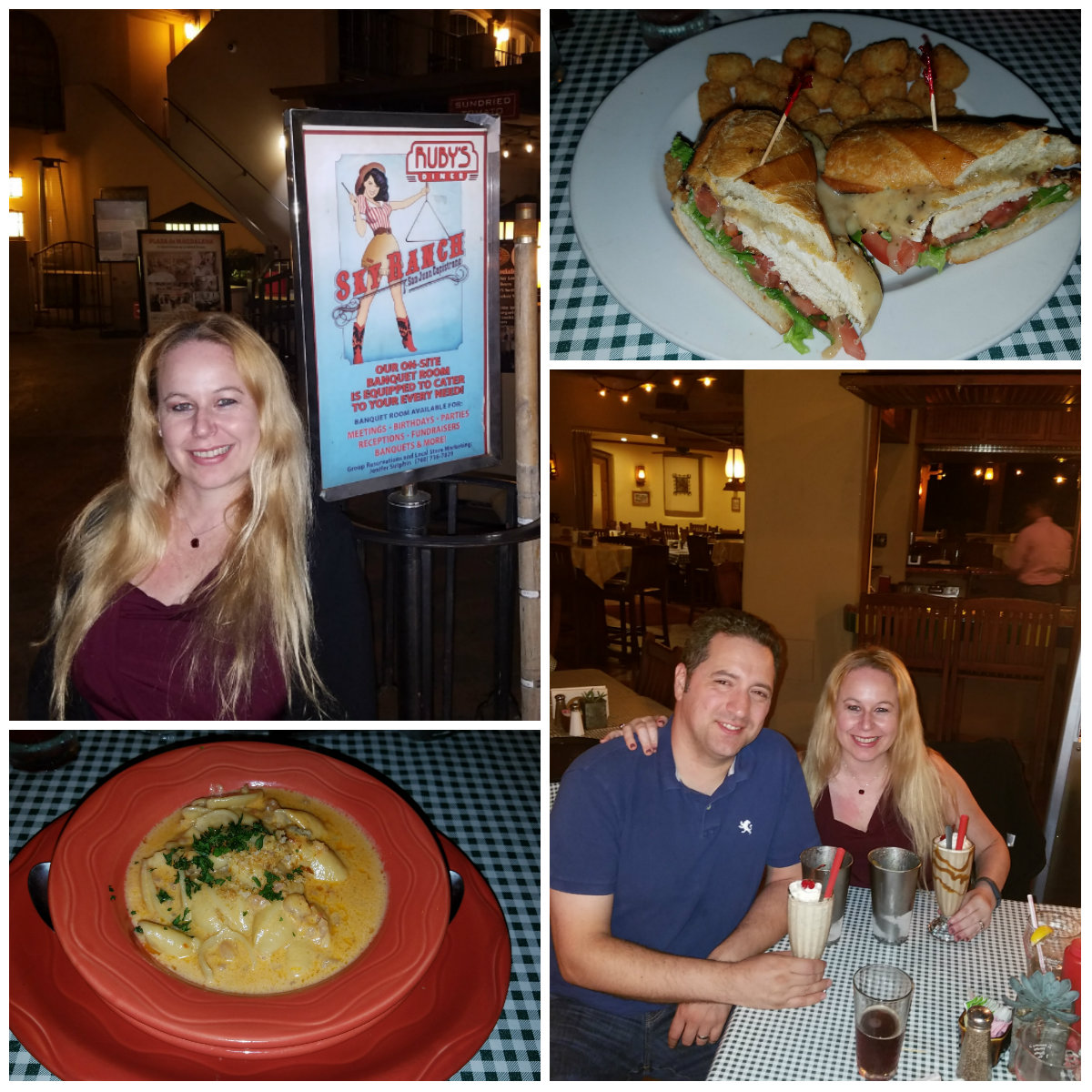 Sky Ranch Saloon, Ruby's Diner, San Juan Capistrano, restaurants