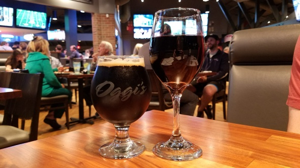 Black Magic Stout and 19 Crimes Shiraz - Oggi's Mission Viejo